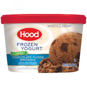 Hood Low Fat Frozen Yogurt Chocolate Fudge Brownie