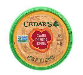 Cedar's All Natural Roasted Red Pepper Hommus