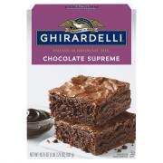 Ghirardelli Chocolate Supreme w/ Chocolate Syrup Brownie Mix