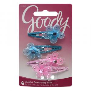 Goody Jewel Flower Barrettes