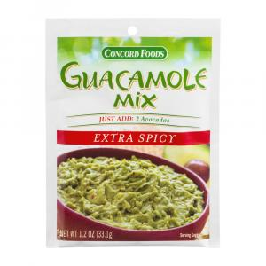 Concord Foods Extra Spicy Guacamole Mix
