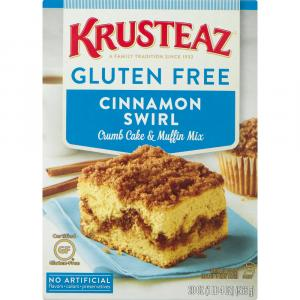 Krusteaz Gluten Free Cinnamon Swirl Crumb Cake & Muffin Mix