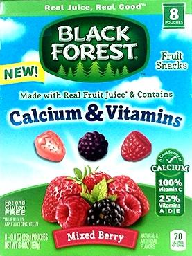 Black Forest Calcium & Vitamins Mixed Berry Fruit Snacks