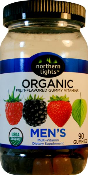 Northern Lights Organic Men's Fruit Flavored Gummy Vitamins