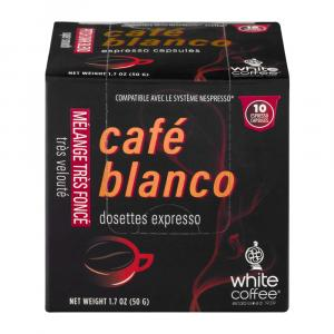 White Coffee Company Cafe Blanco Pitch Dark Blend