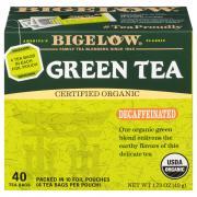 Bigelow Organic Decaf Green Tea Bags
