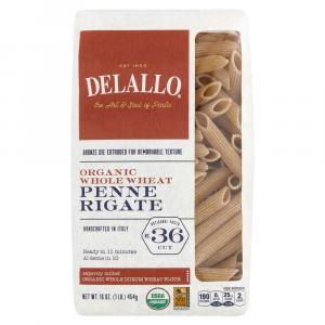 Delallo Organic Whole Wheat Penne Rigate Pasta