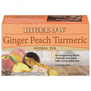 Bigelow Ginger Peach Turmeric Herbal Tea Bags