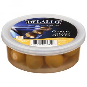 Delallo Martini Collection Garlic Stuffed Olives