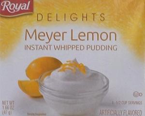 Royal Delights Meyer Lemon Pudding