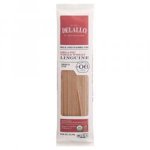 Delallo Organic Whole Wheat Linguine No. 6 Pasta