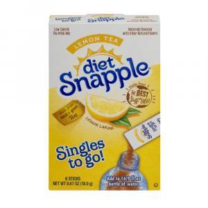 Diet Snapple Lemon Tea Singles To Go Drink Mix