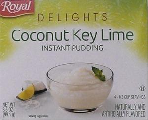 Royal Delights Coconut Key Lime Pudding