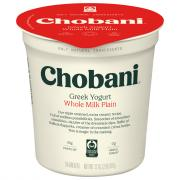 Chobani Whole Milk Plain Greek Yogurt
