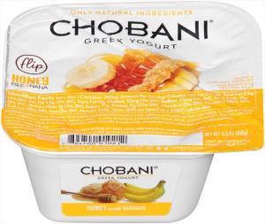 Chobani Flip Honey Low Fat Greek Yogurt With Banana
