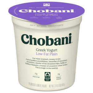 Chobani Low Fat Plain Greek Yogurt