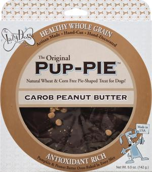 """Lazy Dog 6"""" Carob Peanut Butter Pup-Pie For Dogs"""