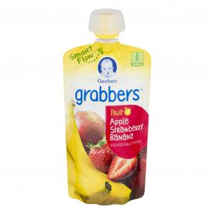 Gerber Graduates Grabbers Apple Strawberry Banana