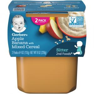 Gerber 2nd Foods Mixed Cereal with Applesauce and Bananas