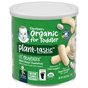 Gerber Organic Lil' Crunchies White Bean Hummus Snack