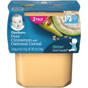 Gerber 2nd Foods Oatmeal and Pears with Cinnamon