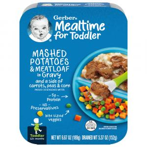 Gerber Graduates Lil Entree Meatloaf and Mashed Potatoes
