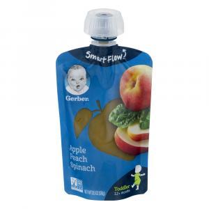 Gerber Smart Flow Pouch Apple Peach Spinach