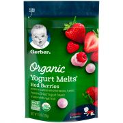 Gerber Organic Yogurt Melts Red Berries