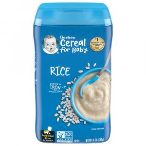 Gerber Rice Cereal Single Grain