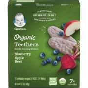Gerber Organic Teethers Blueberry Apple Beet Wafers