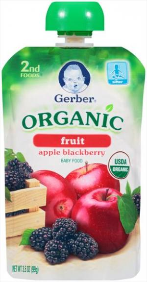 Gerber 2nd Foods Organic Apple Blackberry