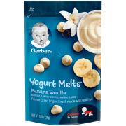 Gerber Graduates Yogurt Melts Banana Vanilla