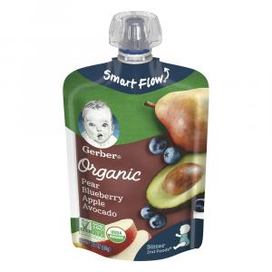 Gerber Organic Pears, Blueberries, Apples, & Avocado Pouch