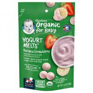Gerber Organic Yogurt Melts Strawberry Banana
