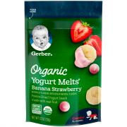 Gerber Organic Yogurt Melts Strawberry Banana