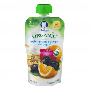 Gerber 3rd Foods Organic Pch Apple Prune Orange With Yogurt