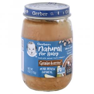Gerber 3rd Foods Pear & Peach Oatmeal