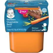 Gerber 2nd Foods Vegetables & Beef