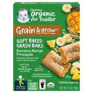 Gerber Organic Grain & Grow Banana Mango Pineapple Grain Bar