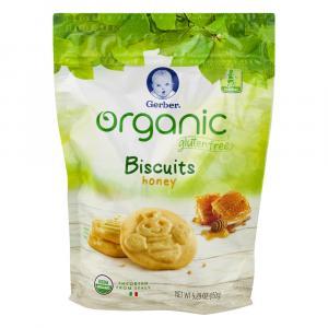 Gerber Organic Gluten Free Honey Biscuits