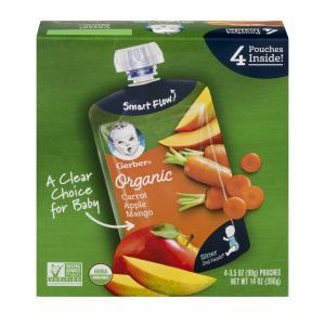 Gerber Organic 2nd Foods Pouch Apples,carrots & Mangos