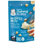 Gerber Natural for Baby Whipped Melts Banana Pear