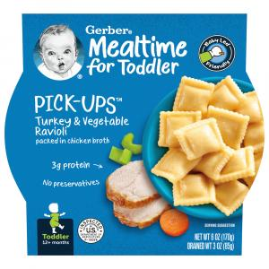 Gerber Graduates Pasta Pick-ups Turkey & Vegetable Ravioli