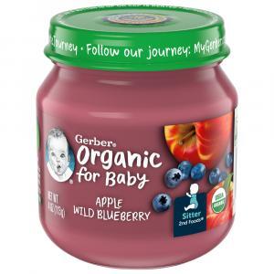 Gerber 2nd Foods Organic Apple Wild Blueberry