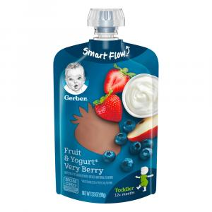 Gerber Smart Flow Pouch Very Berry Fruit & Yogurt