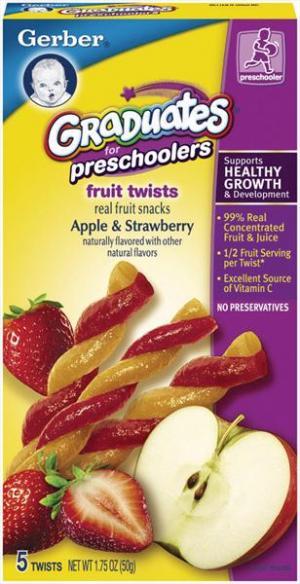 Gerber Preschooler Apple Strawberry Fruit Twists