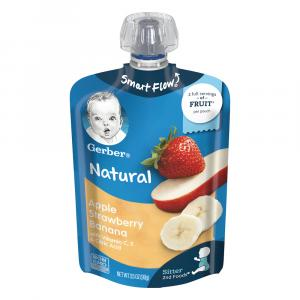 Gerber Smart Flow Pouch Apple Strawberry Banana