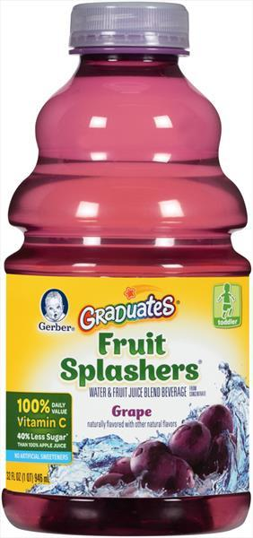 Gerber Graduates Fruit Splashers Grape