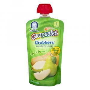 Gerber Graduates Grabbers Pear & Squash