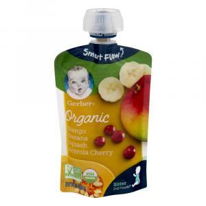 Gerber 2nd Foods Organic Mangoes, Bananas, Squash & Acerola